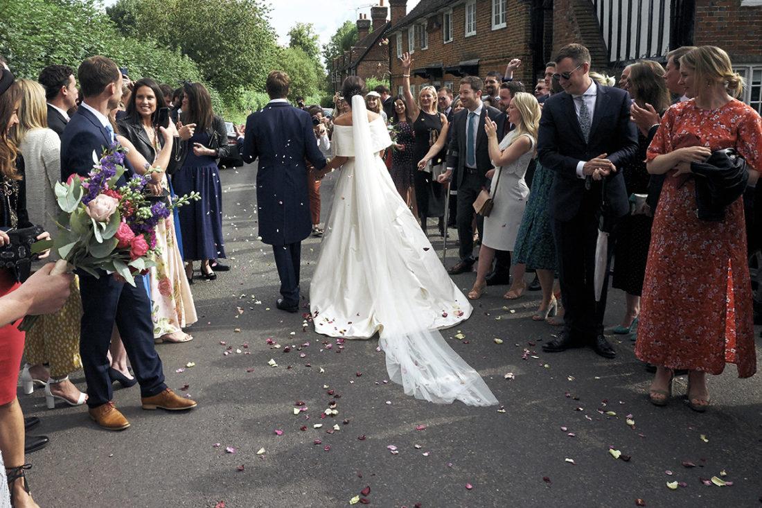 wedding photographer kent confetti shot