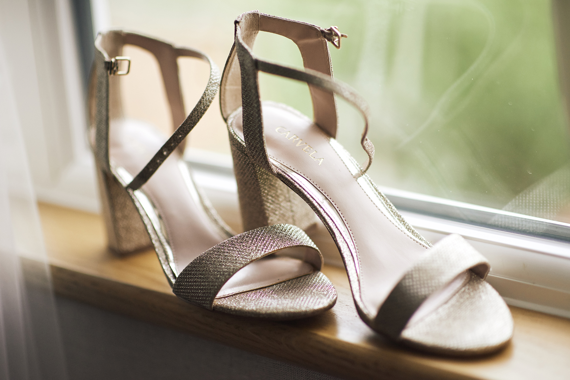 sparkly wedding shoes with chunky heel by carvela
